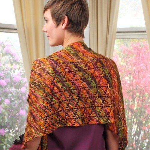 Valley Yarns 120 Falling Leaves Shawl - Download (120)