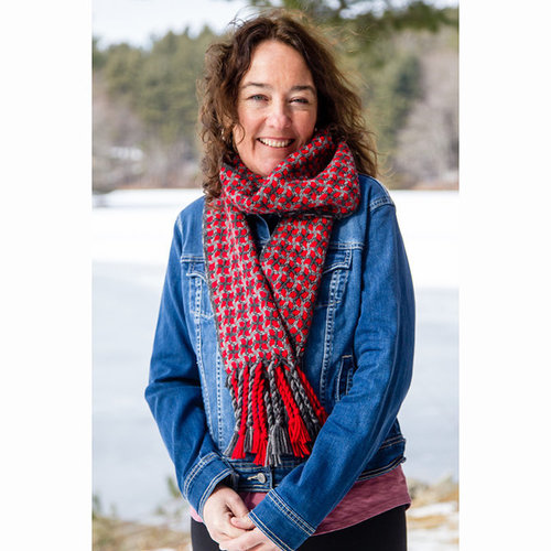 Valley Yarns #124 Winter Panes Scarf Kit - Model (01)