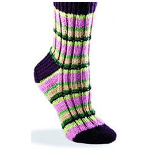 Valley Yarns 128 Super Stripe Socks (Free) -  ()