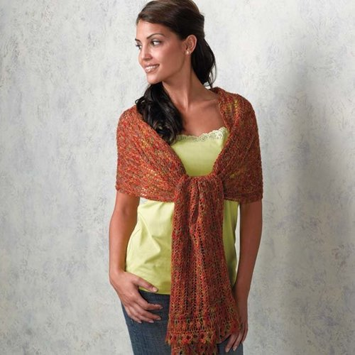 Valley Yarns 132 Rhea Lace Stole - Download (132)