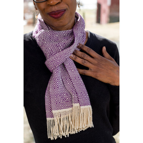 Valley Yarns #134 Purple Rain Scarf PDF -  ()