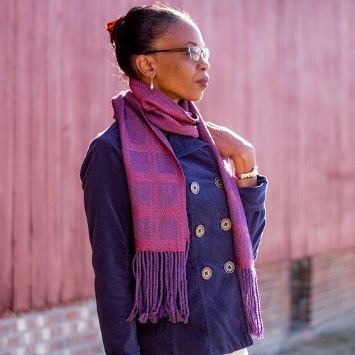 Valley Yarns #138 Reversible Columns Scarf Kit - Model (01)