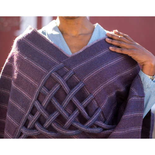 Valley Yarns #141 Playful Poncho Kit - Model (01)