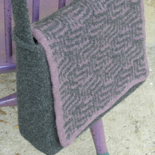 Valley Yarns 141 Purple Maze Messenger Bag (Free) -  ()