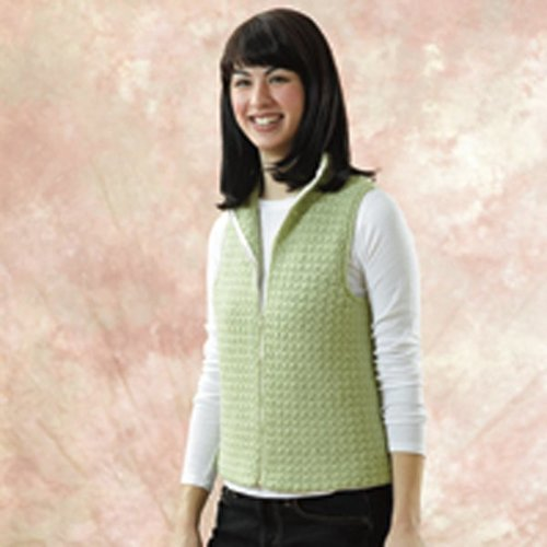 Valley Yarns 144 Sweet Pea Crocheted Vest -  ()