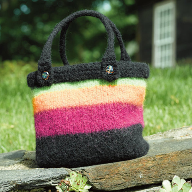 Valley Yarns 154 Vermont Felted Bag Free Pattern Now