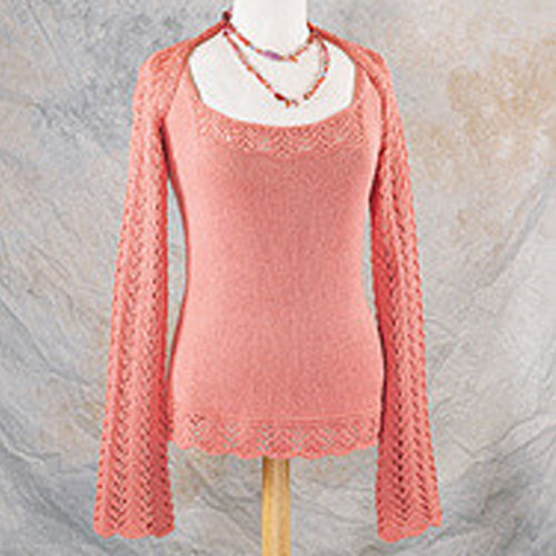 Valley Yarns 157 Sunrise Shrug (Free) -  ()