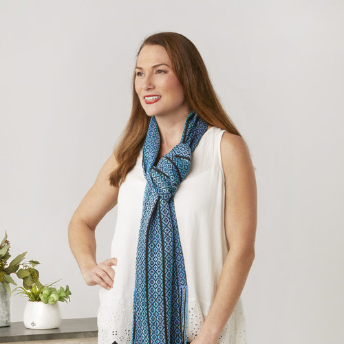 Valley Yarns #158 Blue Highways Scarf PDF -  ()