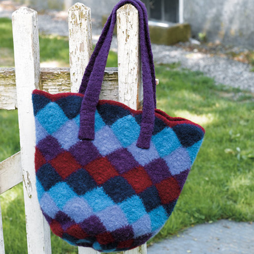 Valley Yarns 172 Felted Entrelac Bag (Free) -  ()