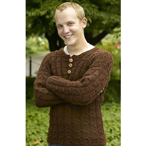 Valley Yarns 183 Woodland Men's Henley (Free) -  ()