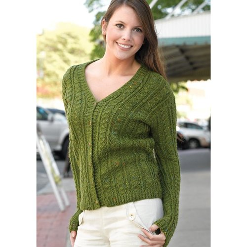 Valley Yarns 199 Green Street Cabled Cardigan - Download (199)