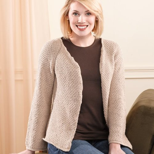 Valley Yarns 201 Sand Pebbles Top-Down Cardigan -  ()