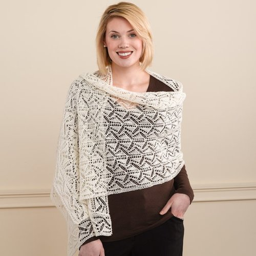 Valley Yarns 202 Geometric Lace Shawl And Scarf -  ()