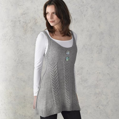 Valley Yarns 210 Staghorn Cabled Tunic -  ()