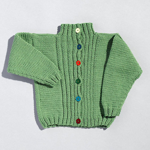 Valley Yarns 211 Ribbed Front Child's Cardigan -  ()