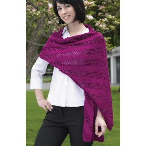 Valley Yarns 215 Diagonal Mesh Scarf And Shawl (Free) -  ()