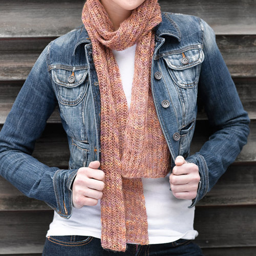 Valley Yarns 223 Lacy Brioche Scarf (Free) -  ()