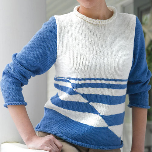 Valley Yarns 229 Striped Woman's Pullover (Free) -  ()