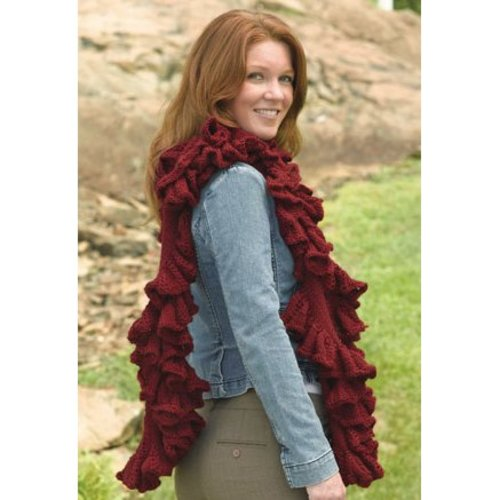 Valley Yarns 231 Ruffled Scarf in the Round PDF -  ()