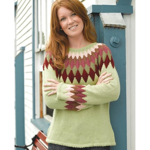 Valley Yarns 234 Harlequin Yoke Pullover -  ()