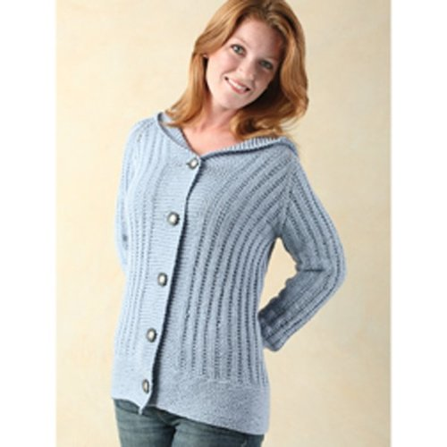 Valley Yarns 242 Laurel Top-Down Hoodie - Printed (242)