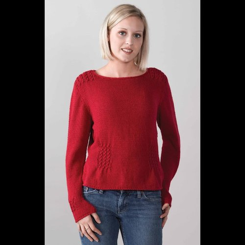 Valley Yarns 251 Cranberry Boat Neck Pullover -  ()
