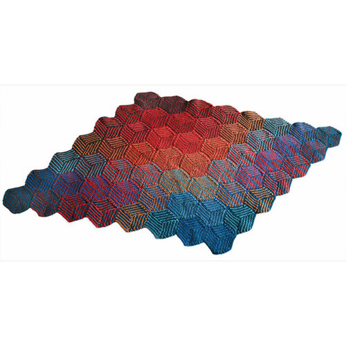 Valley Yarns 255 Illusion Cube Blanket (Free) -  ()