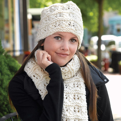 Valley Yarns 275 Feather and Garter Hat and Scarf - Download (275)