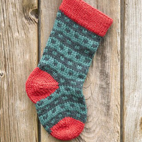 Valley Yarns 283 Spotted Christmas Stocking (Free) -  ()