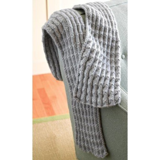 Valley Yarns 286 Shale Pleated Scarf (Free) at WEBS | Yarn.com