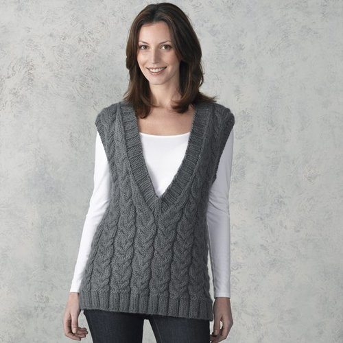 Valley Yarns 302 Smokehouse Cabled Vest -  ()