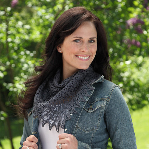 Valley Yarns 315 Argent Triangle Shawl - Download (315)