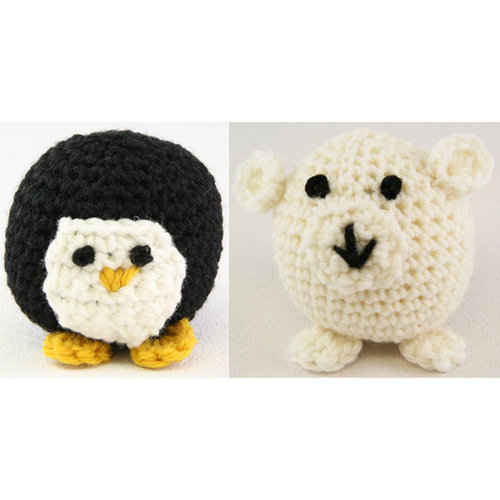 Valley Yarns 353 Crocheted Penguin and Polar Bear (Free) - Download (353)