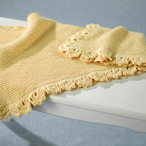Valley Yarns 384 Golden Baby Blanket - Download (384)