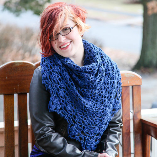 Valley Yarns 40th Anniversary 01 Cousteau Shawl - Download (01PDF)