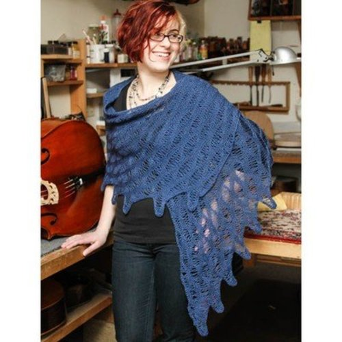 Valley Yarns 40th Anniversary 04 Mixed Tide Shawl - Download (04PDF)
