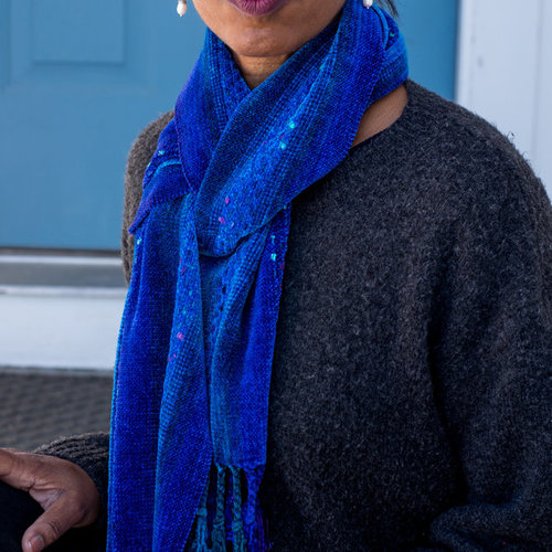 Valley Yarns 40th Anniversary 06 Dots & Dashes Chenille Scarf PDF -  ()