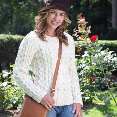 Valley Yarns 421 Pearl Street Cabled Pullover - Download (421)