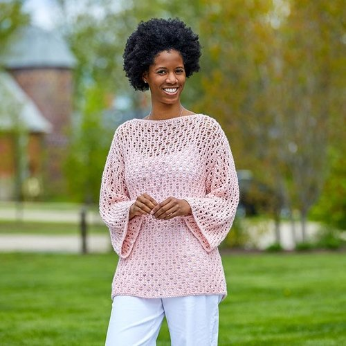 """Valley Yarns 471 Kohl Lace Pullover Kit - 35"""" (01)"""