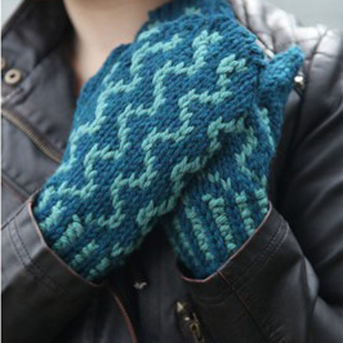 Valley Yarns 483 Wavy Gravy Mittens - Download (483)