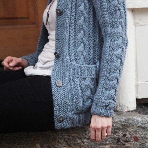 Valley Yarns 484 Braid Cardigan - Download (484)