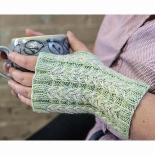Valley Yarns 492 Orchid Mitts Kit - Model (01)
