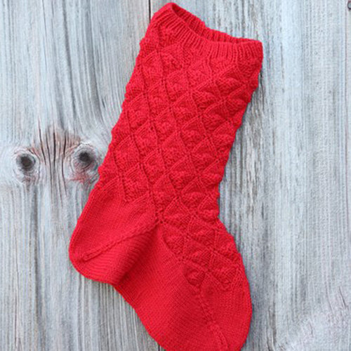 Valley Yarns 503 Hearts of Oak Christmas Stocking - Download (503)