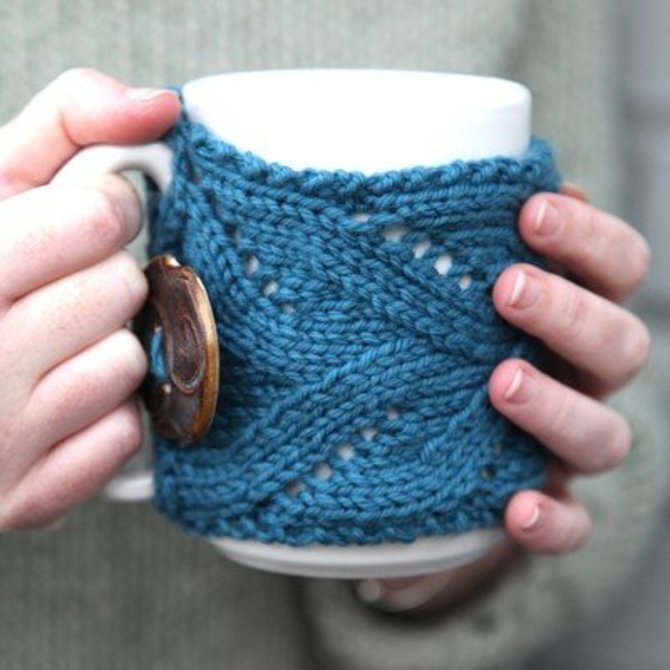 Valley Yarns 510 Fancy Mug Cozy Free At Webs Yarn