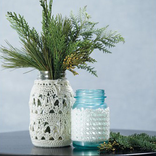 Valley Yarns 575 Crocheted Lace Jar Covers (Free) -  ()