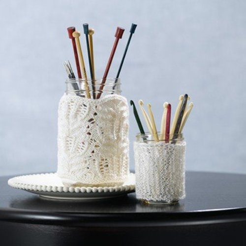 Valley Yarns 576 Knit Lace Jar Covers (Free) -  ()
