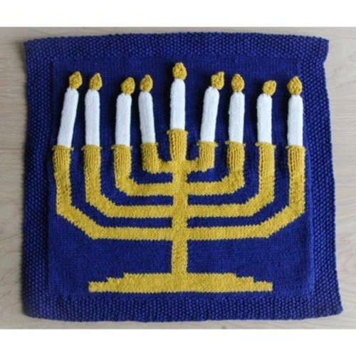 Valley Yarns 578 Hannukah Menorah Wall Hanging (Free) -  ()