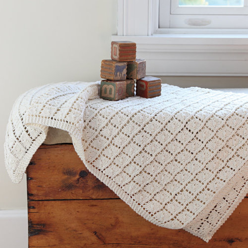 Valley Yarns 583 Snowdrop Baby Blanket - Download (583)