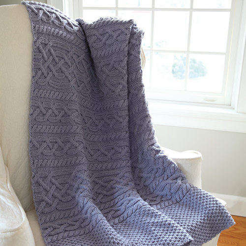 Valley Yarns 584 Thaw Cabled Blanket - Download (584)