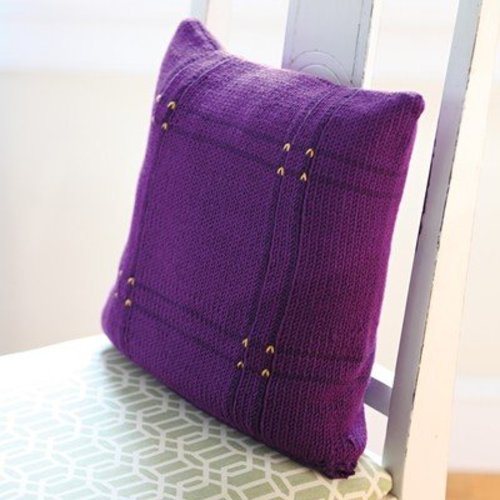 Valley Yarns 585 Viola Plaid Pillow - Download (585)